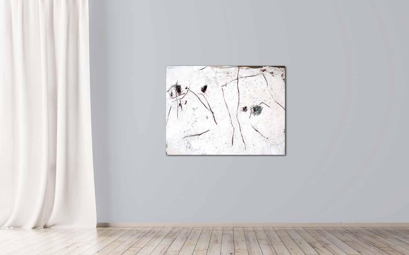 informelle Malerei mit Asche und Pigmenten Katja Gramann