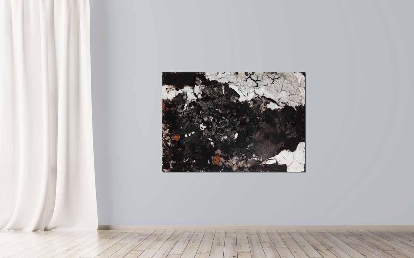 informelle Malerei mit Kaffee, Asche, Marmormehl - Katja Gramann