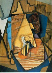 Abbildung: Quelle: Collage von Juan Gris: Mann im Café, 1914, Öl und Klebebild, gemeinfrei https://de.wikipedia.org/wiki/Collage#/media/Datei:Gris2.jpg