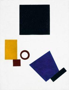Kasimir Sewerinowitsch Malewitsch: Suprematism: Self-Portrait in Two Dimensions. https://de.wikipedia.org/wiki/Datei:Suprematism._Two-Dimensional_Self-Portrait.jpg
