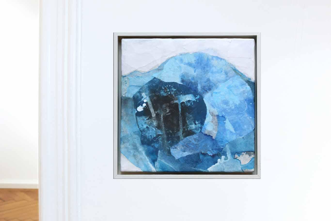 Abstrakte Collage in Türkistönen