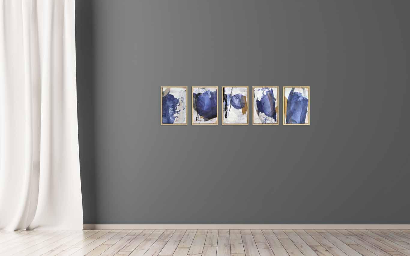 abstrakte kleine Collagen in Serie