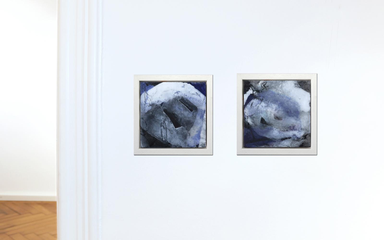 Abstrakte Collagen aus Chinapapier für kleine Flächen