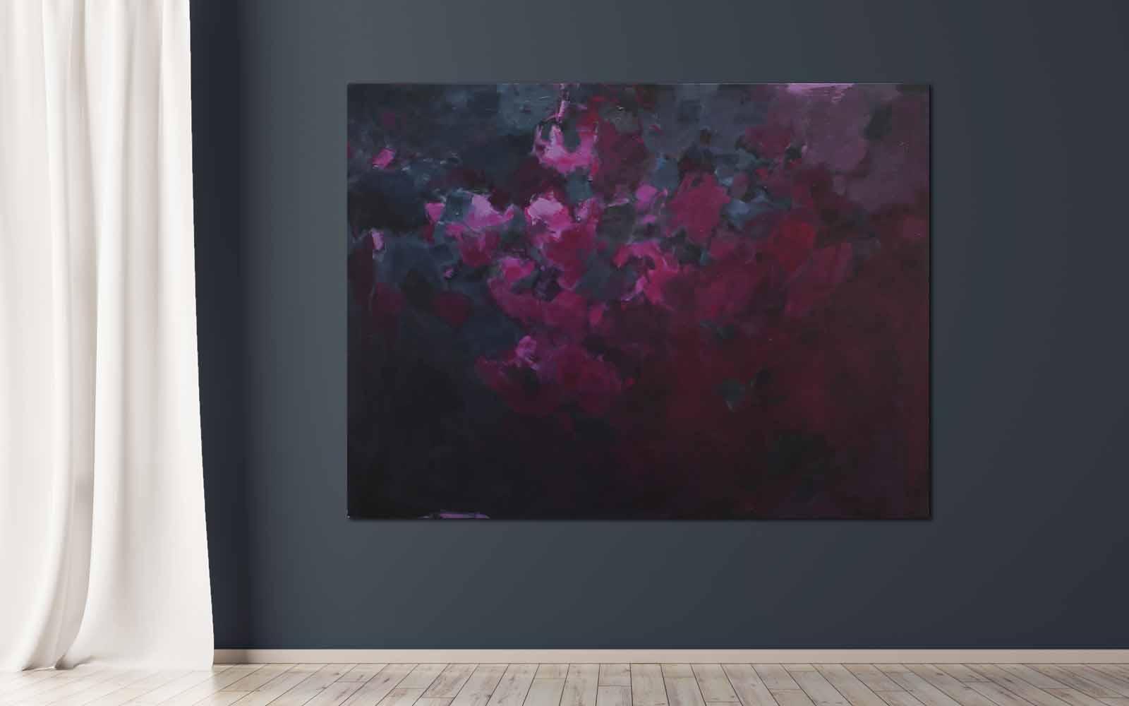 Abstrakte Malerei auf Leinwand im großen Format