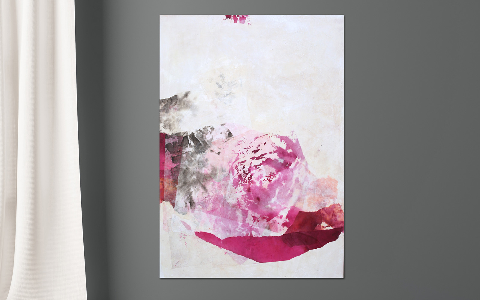 abstrakte Collage aus Chinapapier
