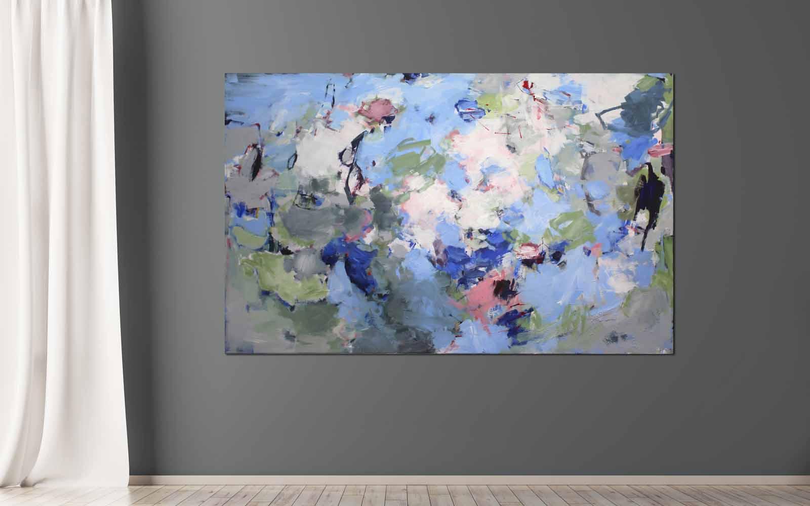 Abstrakte Acrylmalerei auf Leinwand im großen Format