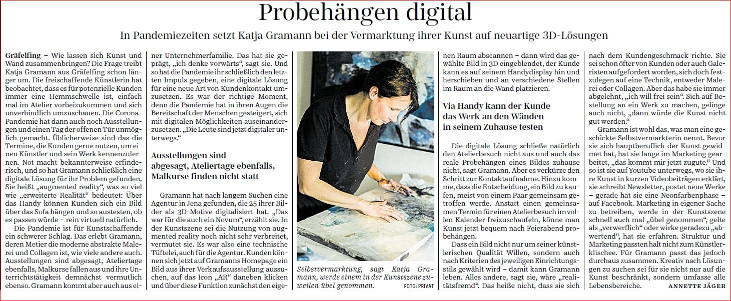 Die Süddeutsche Zeitung über Augmented Reality, meine Kunst und mich