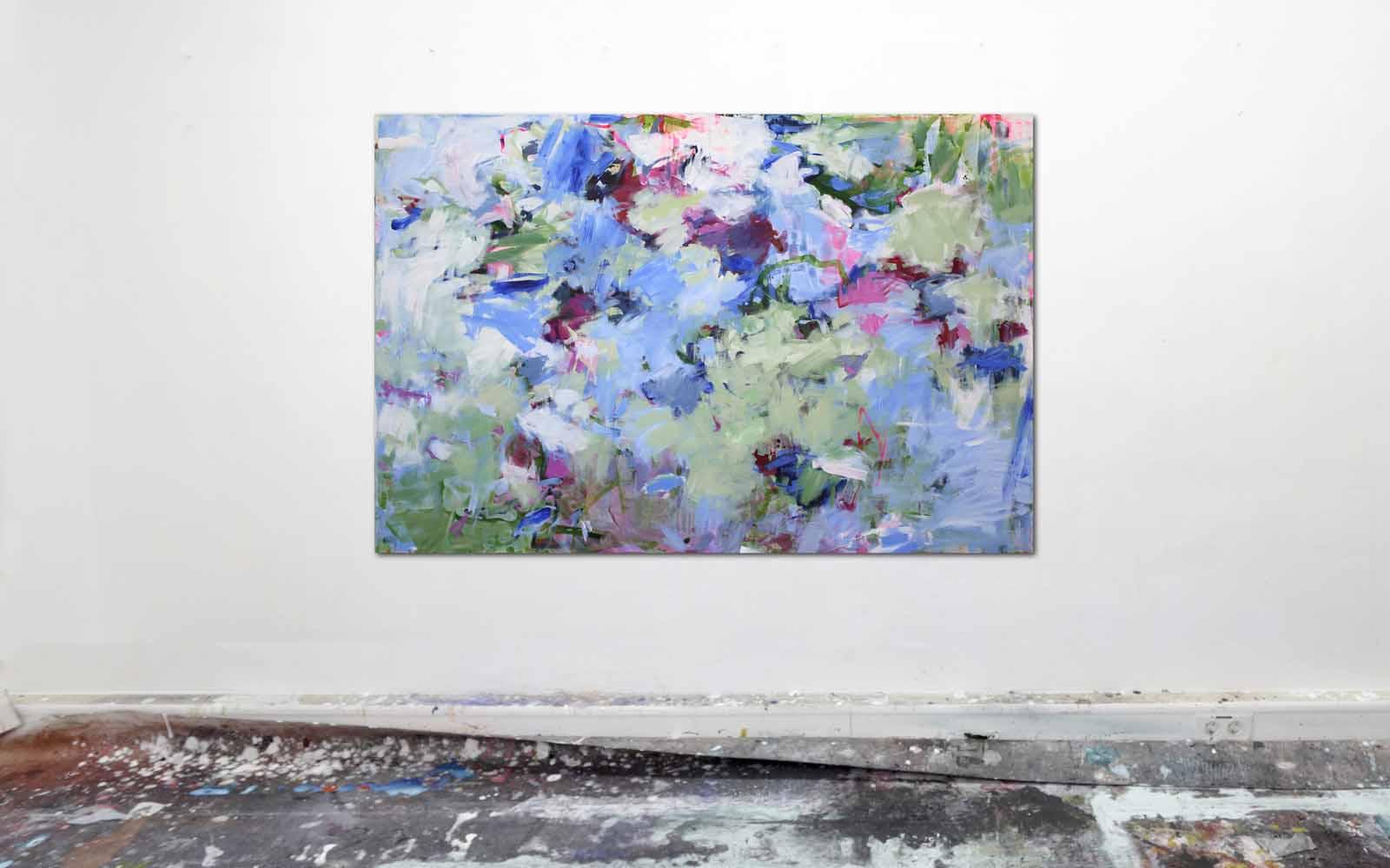 abstrakte Malerei mit Acrylfarbe